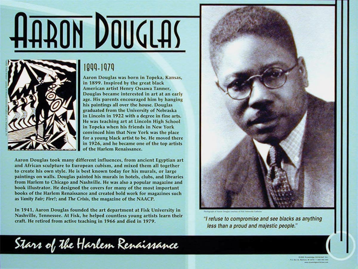 Stars of the Harlem Renaissance: Aaron Douglas Poster by Knowledge Unlimited