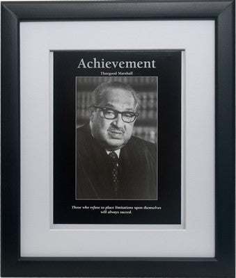 Achievement: Thurgood Marshall by D'azi Productions (Framed)