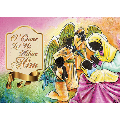 Adore Him: African American Christmas Card