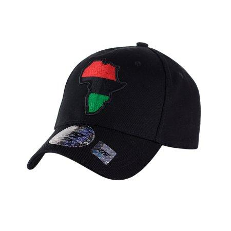 Africa Unite!: Adjustable Baseball Cap by RBG Forever (Black)