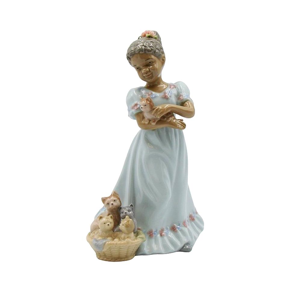 I Love My Kittens: African American Porcelain Figurine by Cosmos Gifts