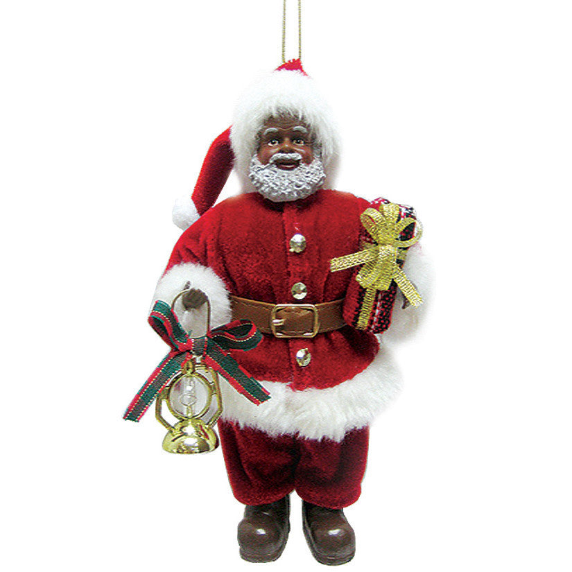 african american santa claus christmas ornament - African American Christmas Decorations