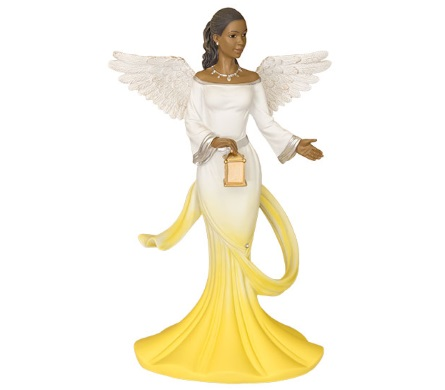 African American Sash Angel Figurine in Yellow by Positive Image Gifts