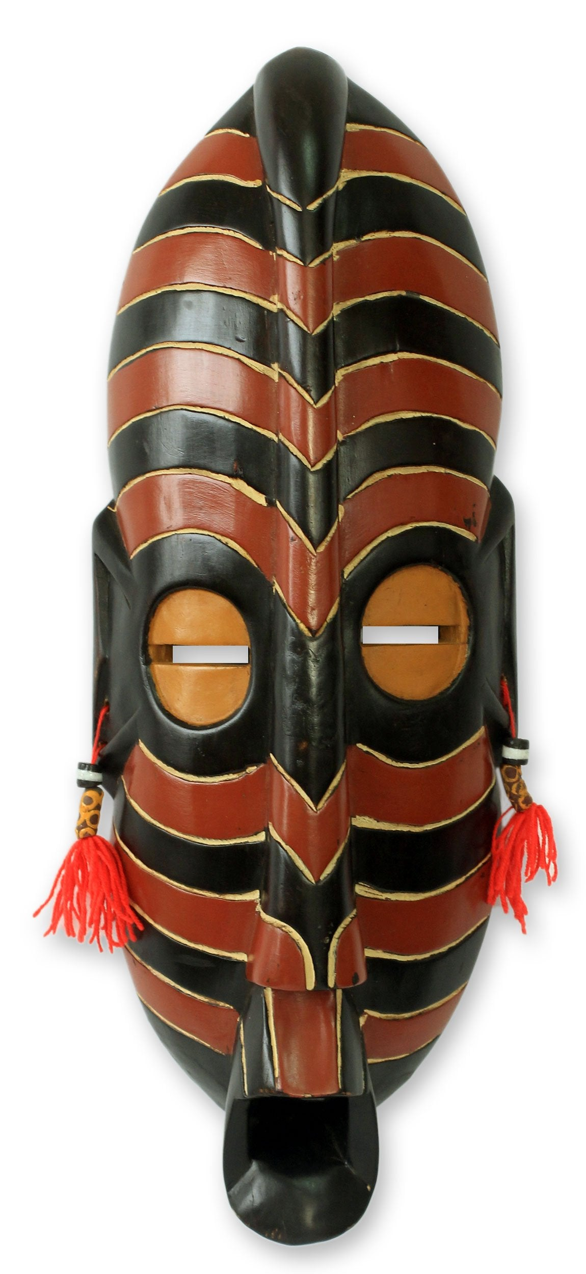 Safari: Hand Made Authentic West African Mask by Kennedy K. Aseidu