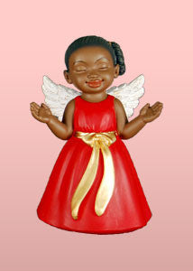 Worship (Red): African American Christmas Ornament