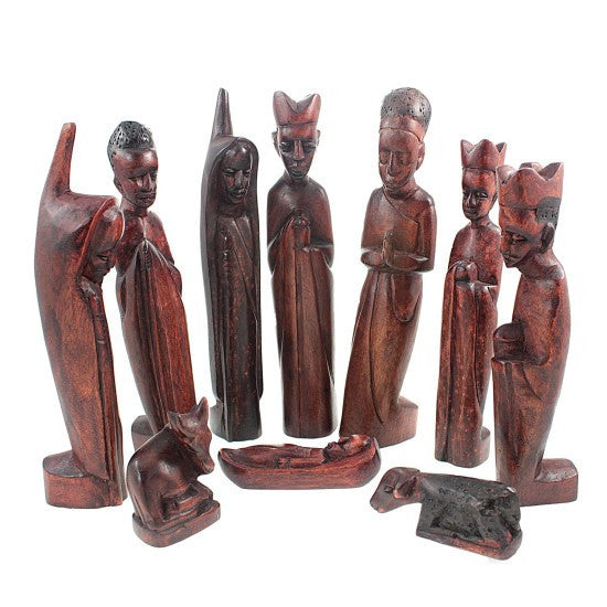 Jacaranda Wood Nativity Set