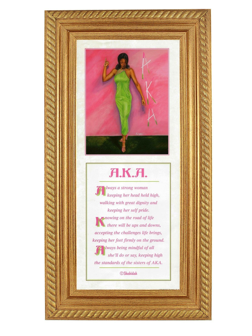 Alpha Kappa Alpha: Strong Woman (Gold Rope Frame) by Fred Mathews and Shahidah