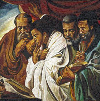 Four Apostles (Mattew, Mark, Luke and John) by Alix Beaujour