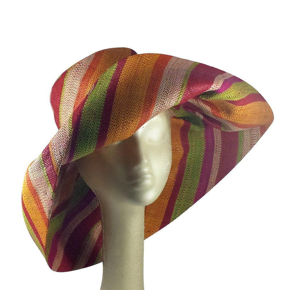 Amara: Hand Woven Multicolored Madagascar Raffia Hat