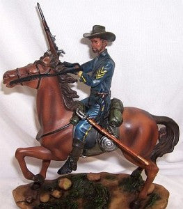 Buffalo Soldier with Rifle (Hand Painted) by the American Heritage Collection