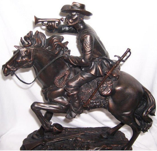Buffalo Soldier with Bugle (Bronzetone) by the American Heritage Collection