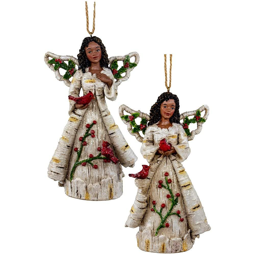 Birch Berry Angels: African American Christmas Ornaments