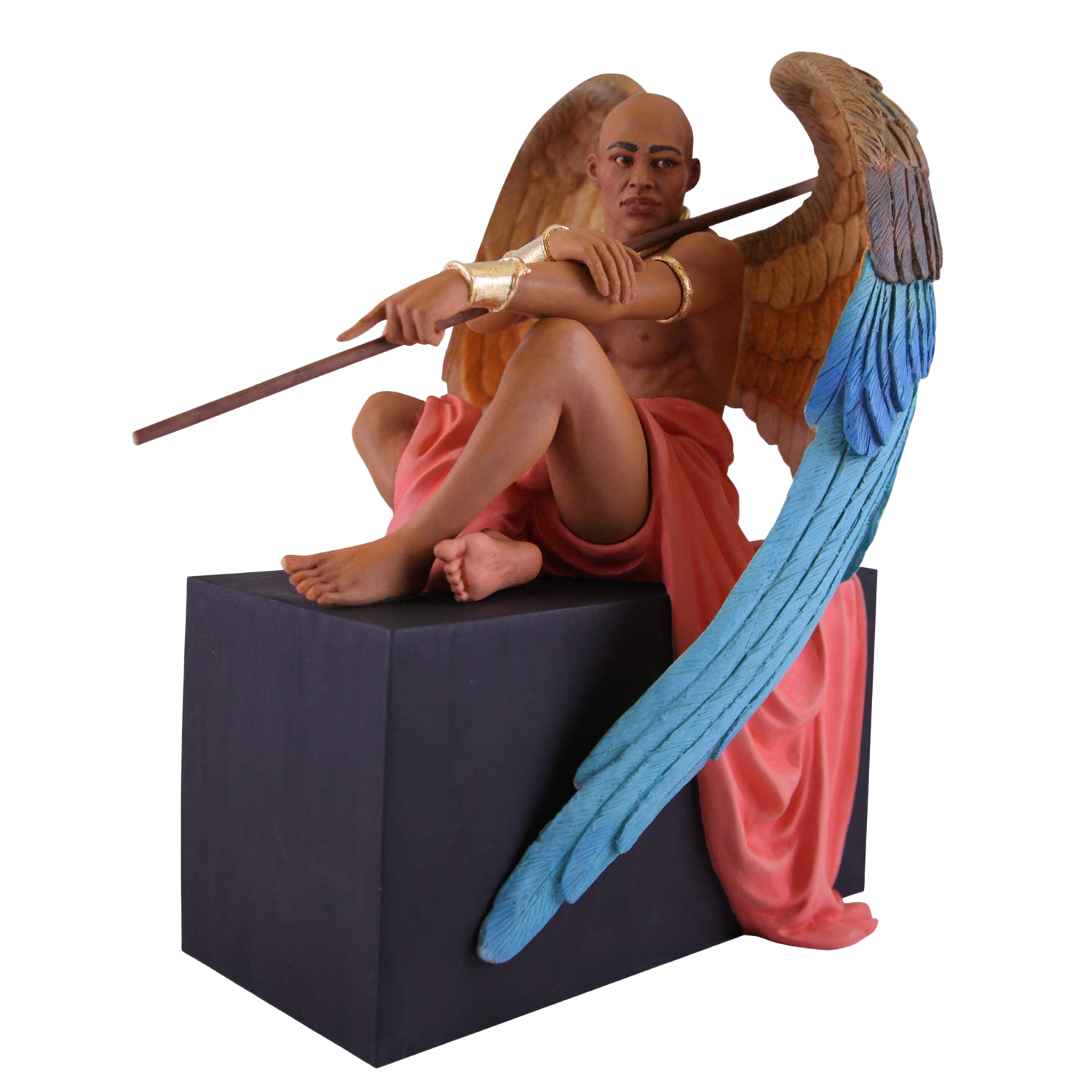 Angel at Rest: African American Figurine by Thomas Blackshear