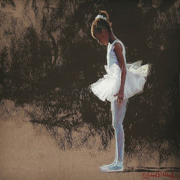 Anticipation (African American Ballerina) by Richard Wilson (Art Print)