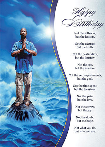 faith african american birthday card x inches  high gloss, Birthday card
