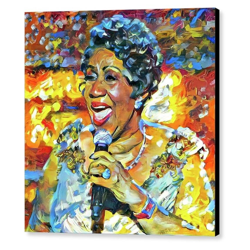 Aretha Franklin by Yury Malkov
