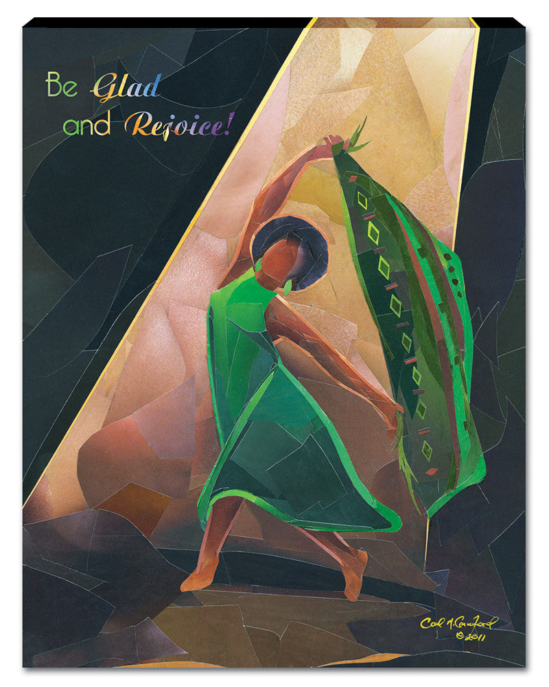 Be Glad and Rejoice Canvas Wall Hanging by Carl M. Crawford