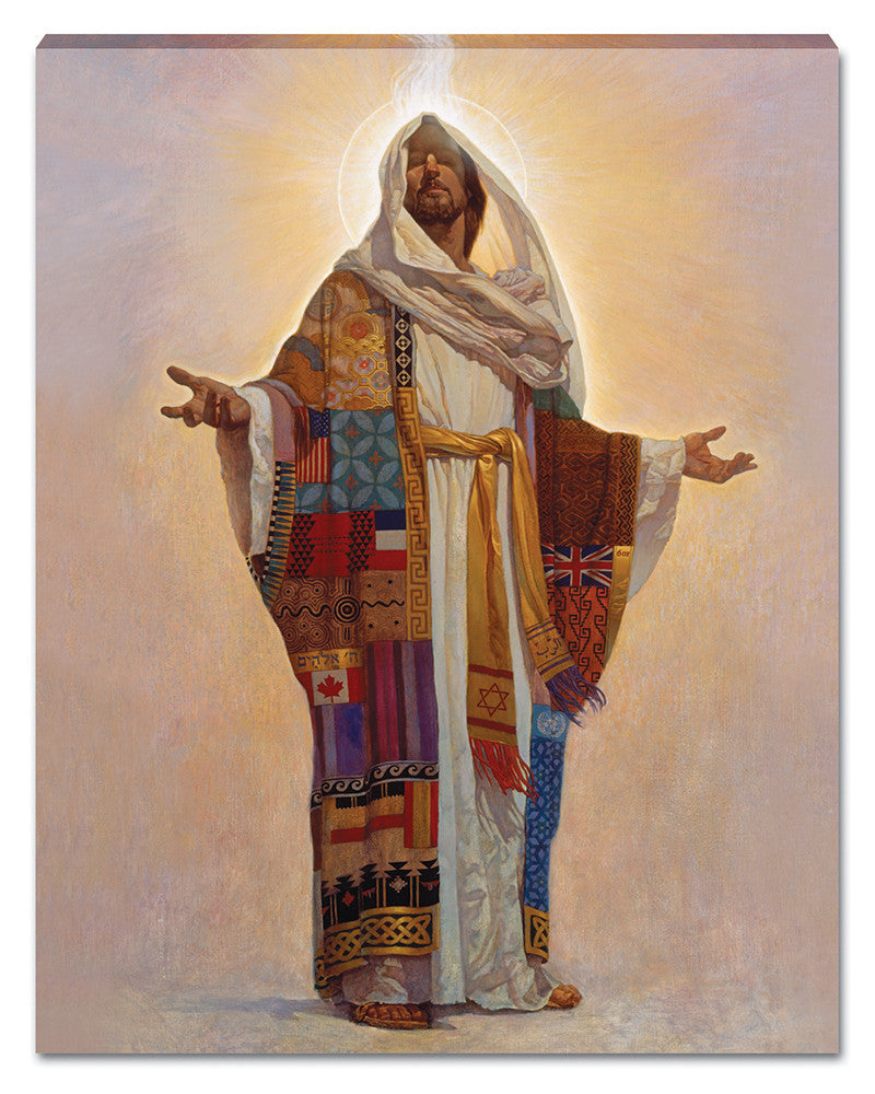 Coat of Many Colors Canvas Wall Hanging by Thomas Blackshear