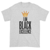I Am Black Excellence Men's Short Sleeved T-Shirt (Grey)