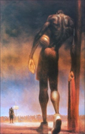 David And Goliath (Basketball) by Kadir Nelson