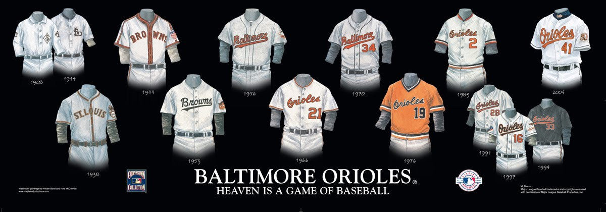 Baltimore Orioles: Heaven is a Game of Baseball Uniform/Jersey Poster