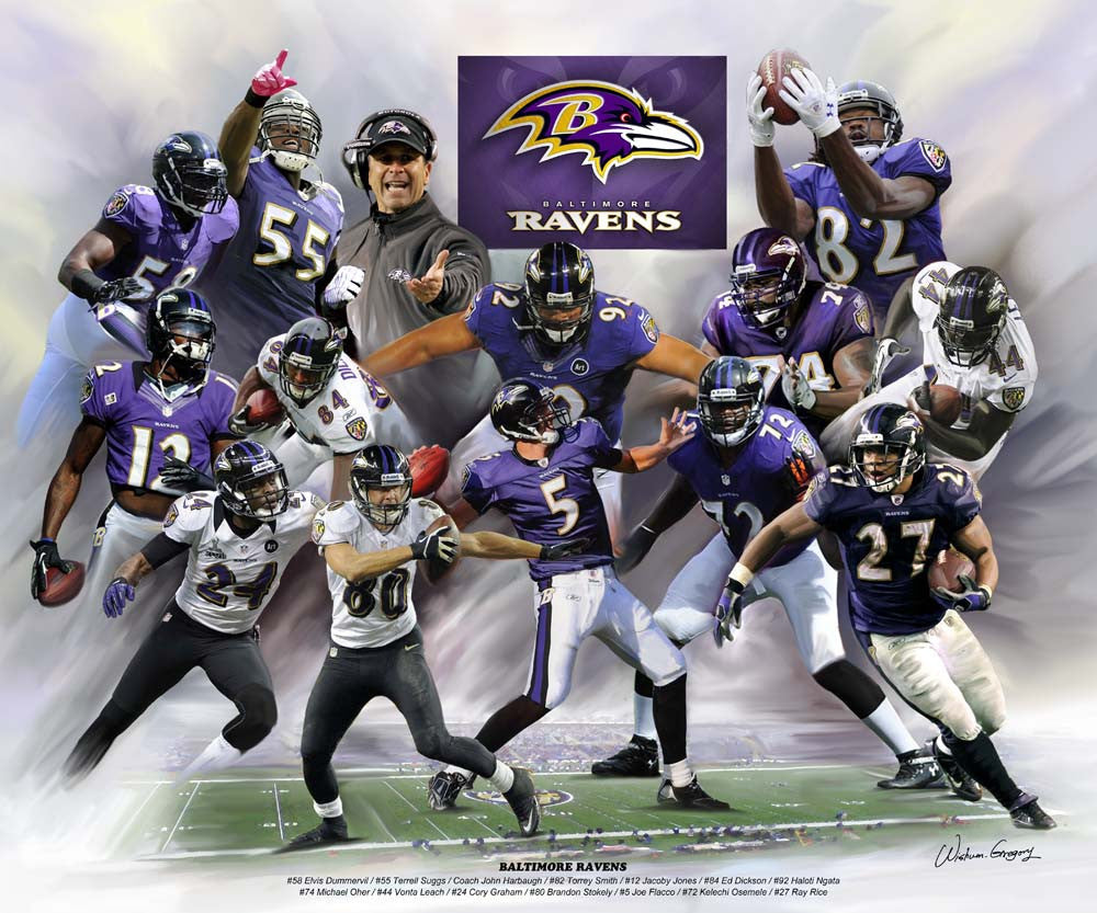 Baltimore Ravens by Wishum Gregory