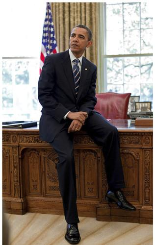 President Barack Obama: Oval Office by Anonymous