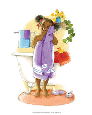 Bath Time Giggles (Girl) by Sylvia Walker