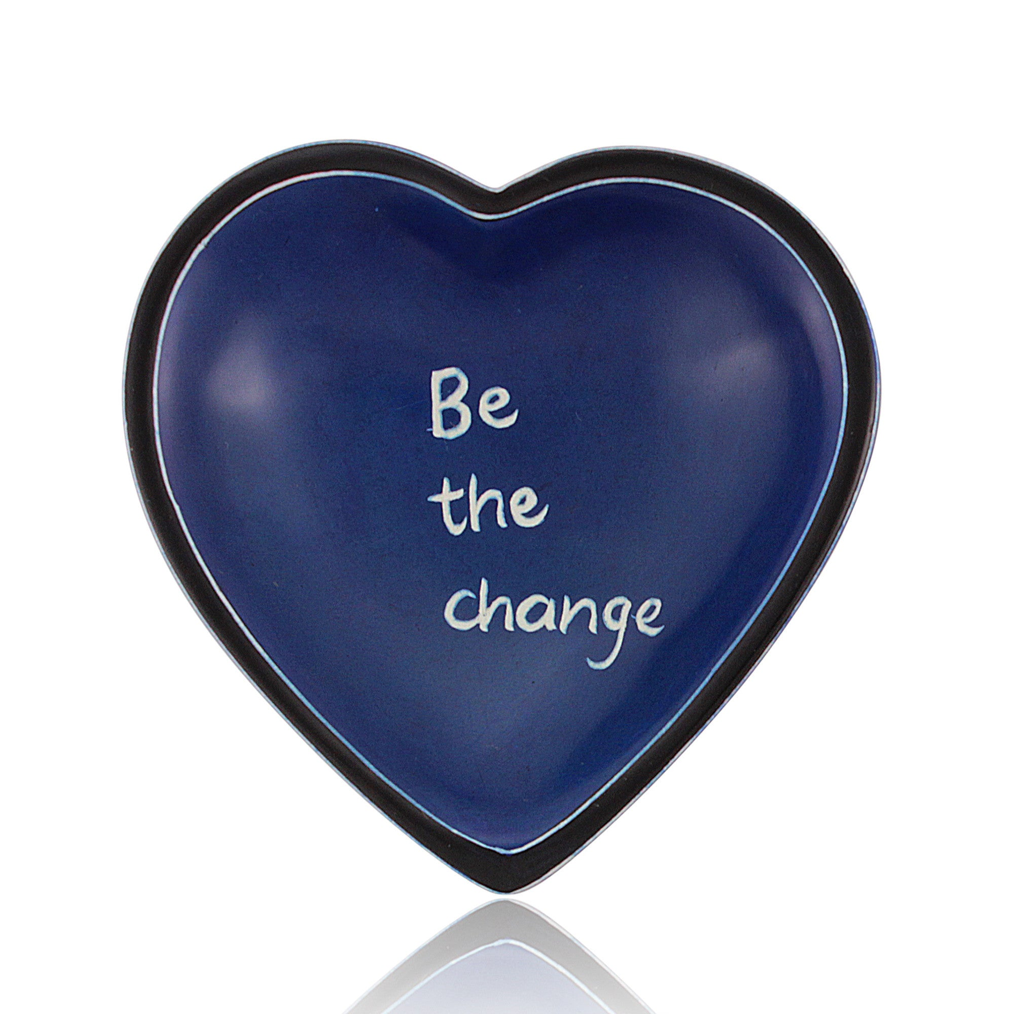 Be the Change Kenyan Heart Shaped Soapstone Dish by Venture Imports