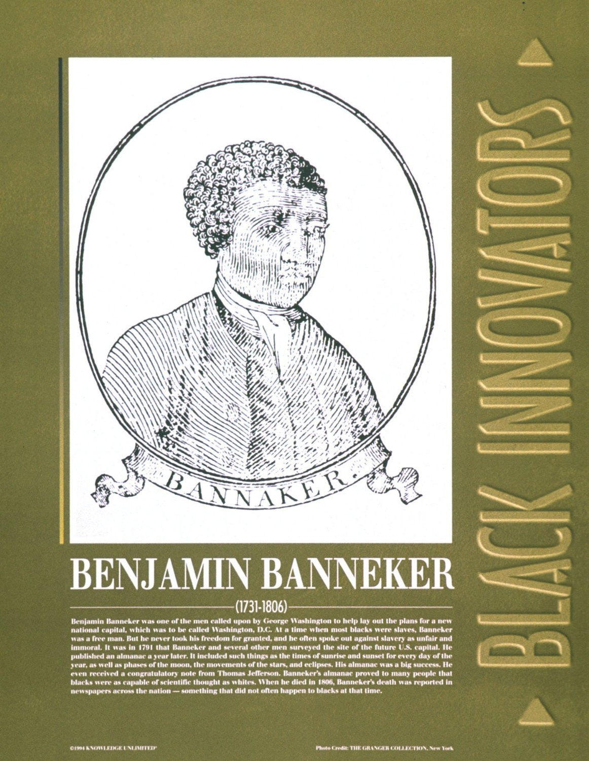 Black Innovators: Benjamin Banneker by Knowledge Unlimited