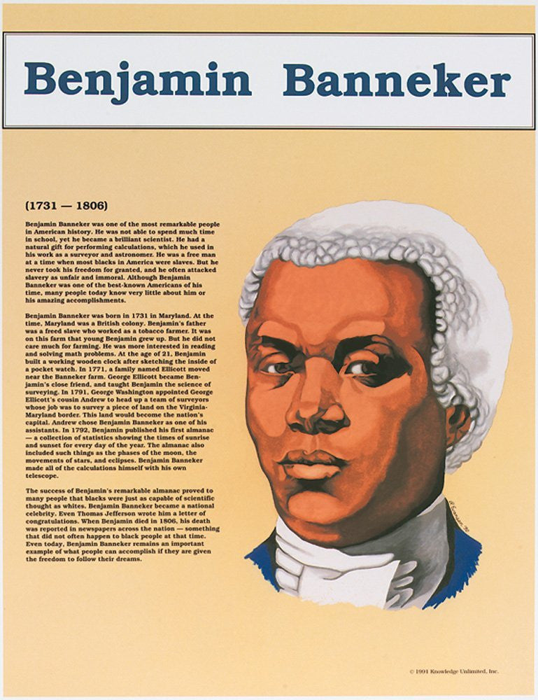 Great Black Americans: Benajmin Banneker Poster by Knowledge Unlimited