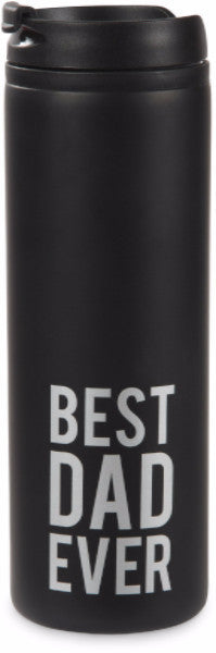 Best Dad Ever Stainless Steel Travel Mug (Man Made) by Pavilion Gifts