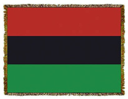 African-American Flag Tapestry Throw