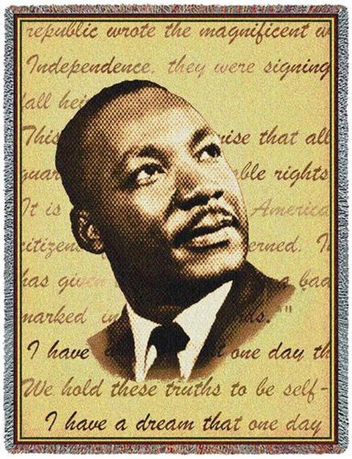 Martin Luther King Tribute Tapestry Throw