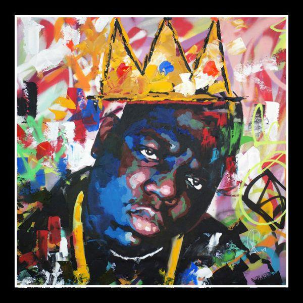 Biggie Smalls (Notorious B.I.G.): King of New York by Richard Day (Black Frame)
