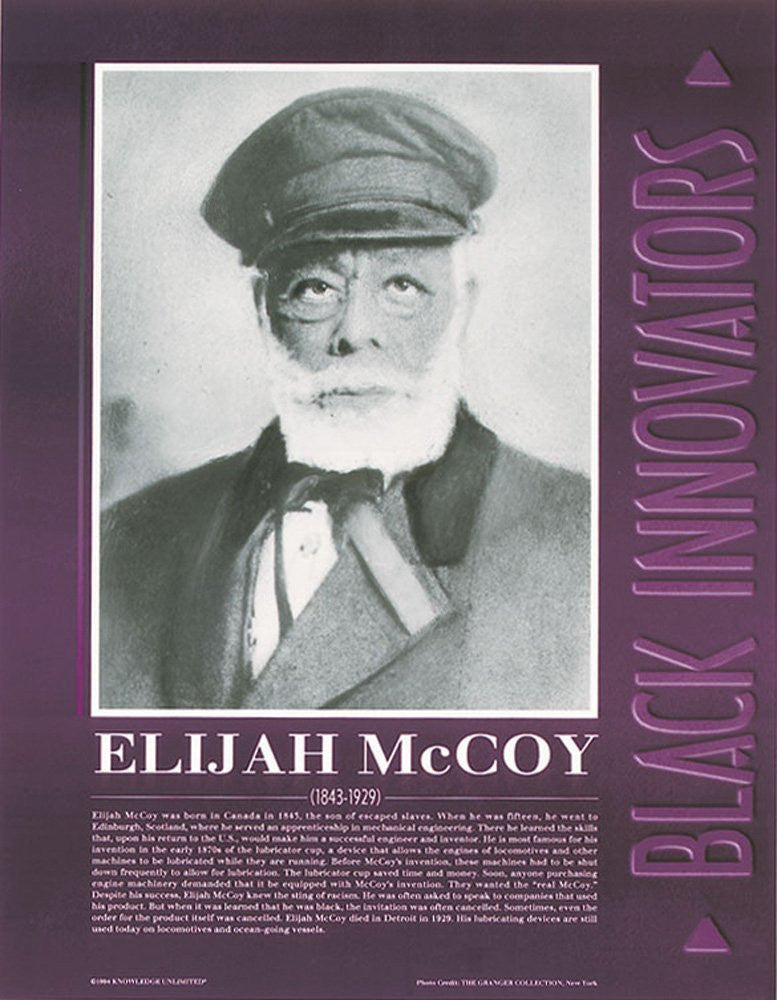 Black Innovators: Elijah McCoy Poster by Knowledge Unlimited