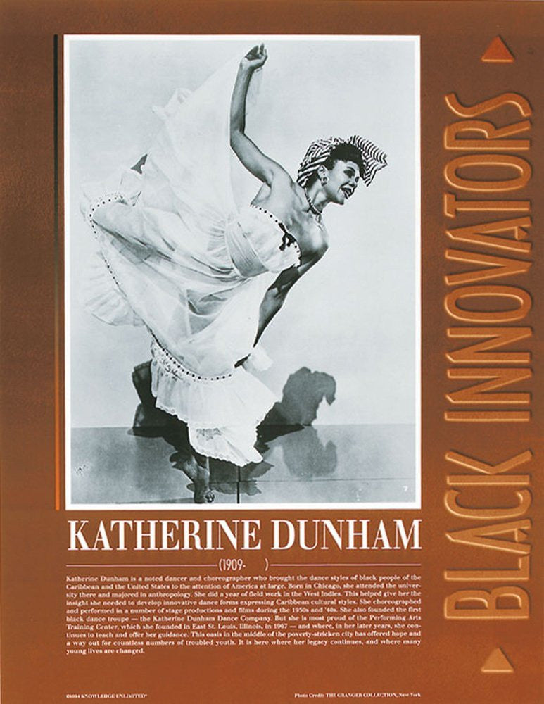 Black Innovators: Katherine Dunham Poster by Knowledge Unlimited