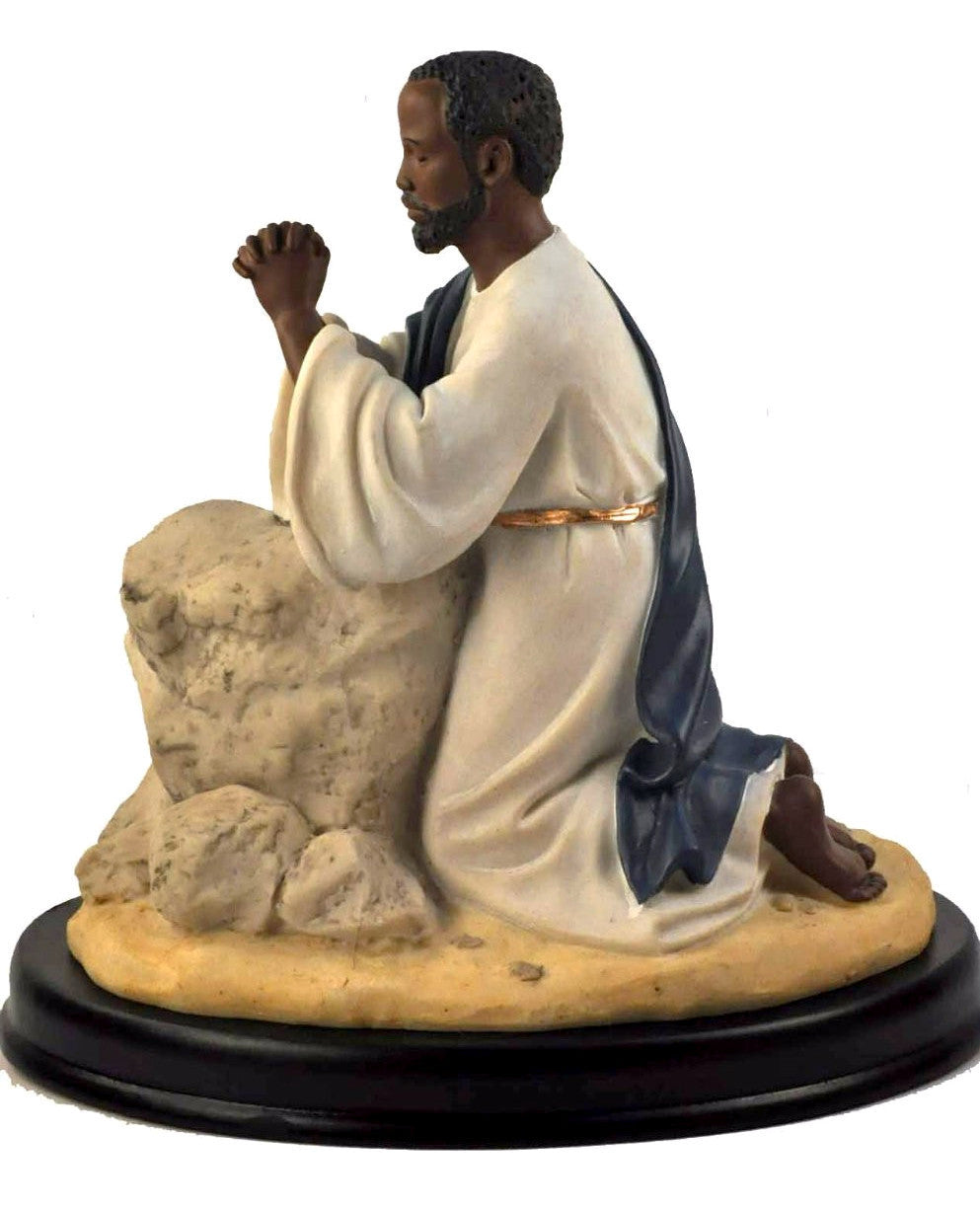 African American Jesus Praying in the Garden Figurine by Positive Image Gifts