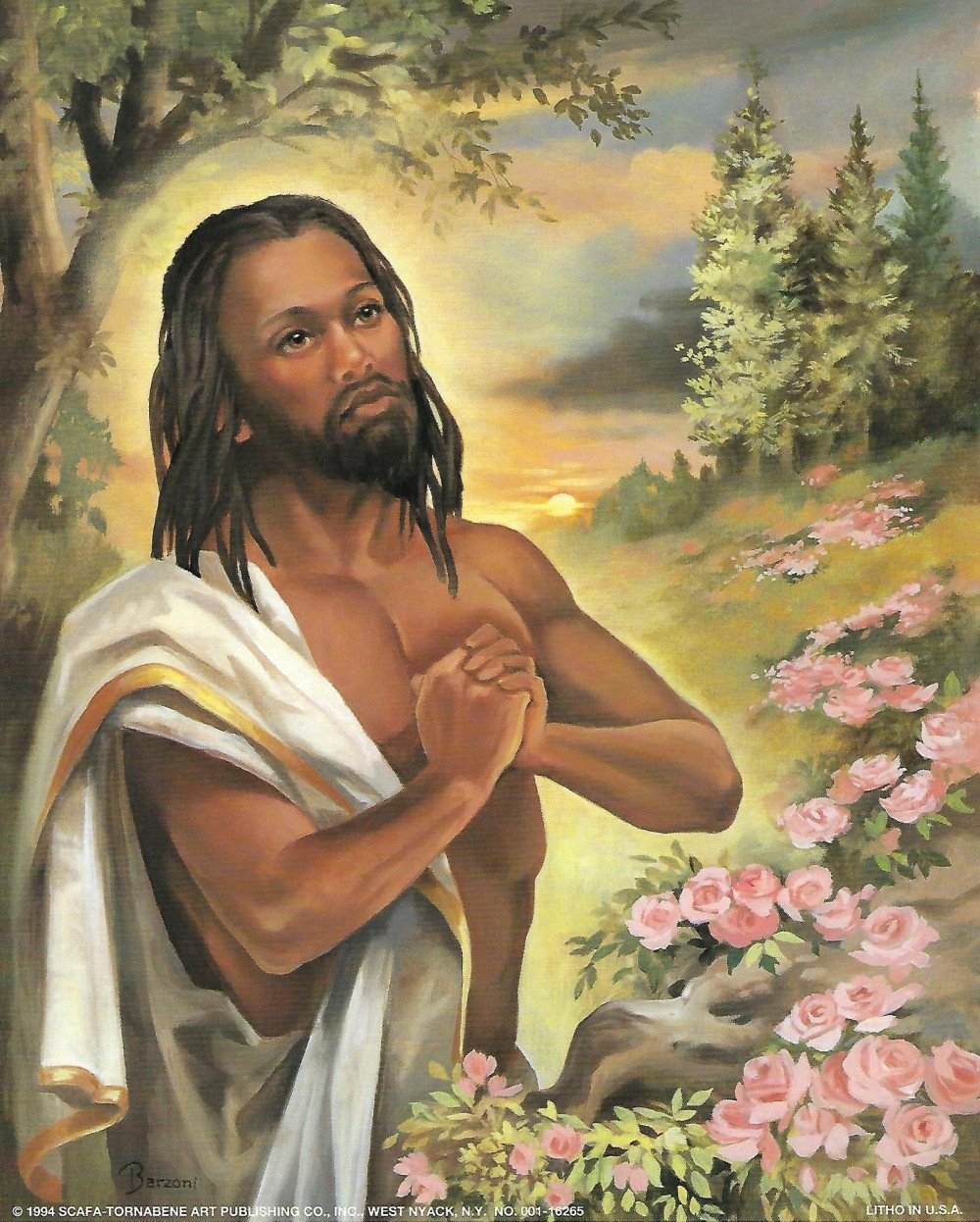 Black Jesus in the Garden by Vincent Barzoni