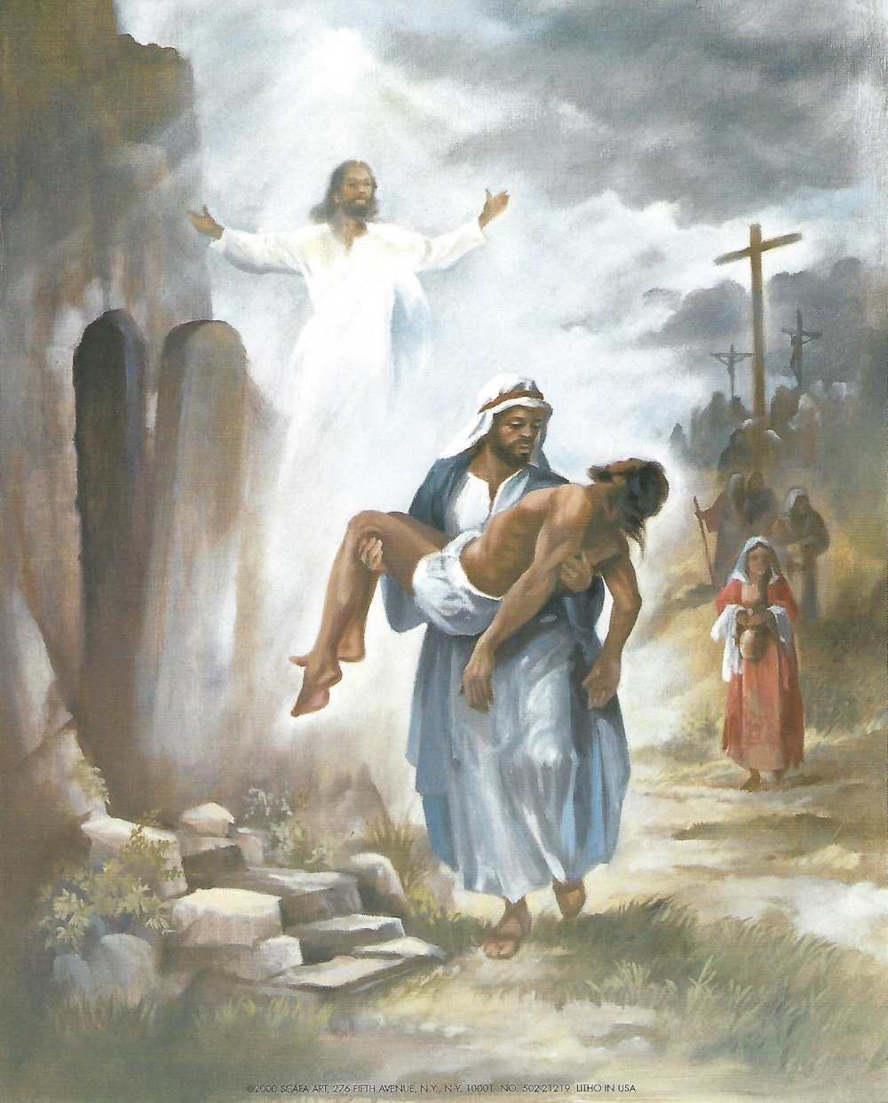 And He Rose: The Resurrection (Black Jesus) by Vincent Barzoni