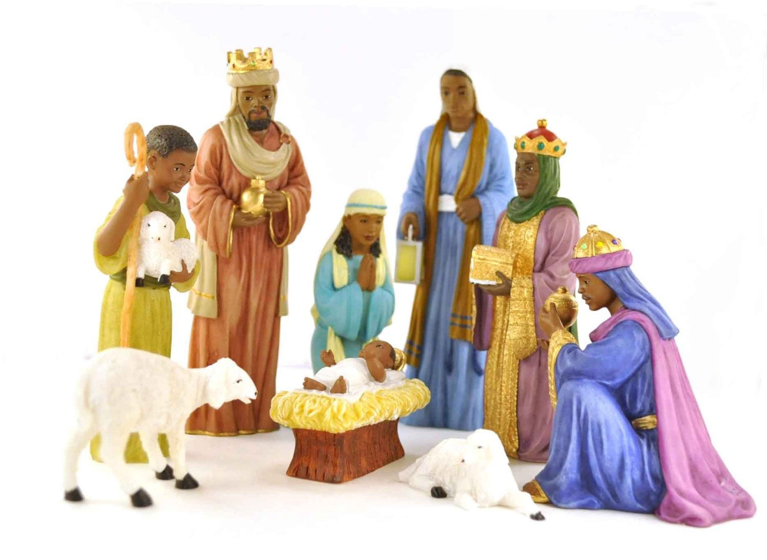 African American Nativity Figurine Set (9 Pieces)