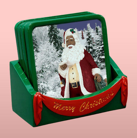 Winter Wonderland: Black Santa Claus Coaster