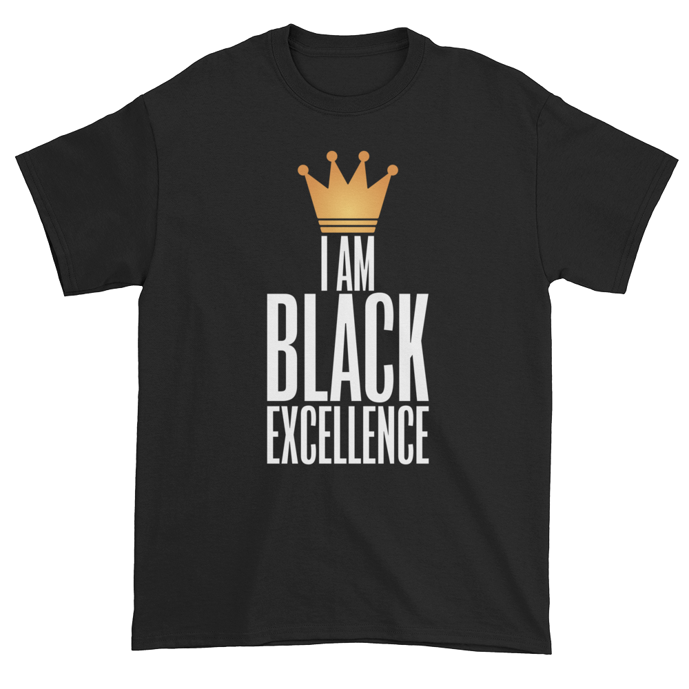 I Am Black Excellence Men's Short Sleeved T-Shirt (Black)