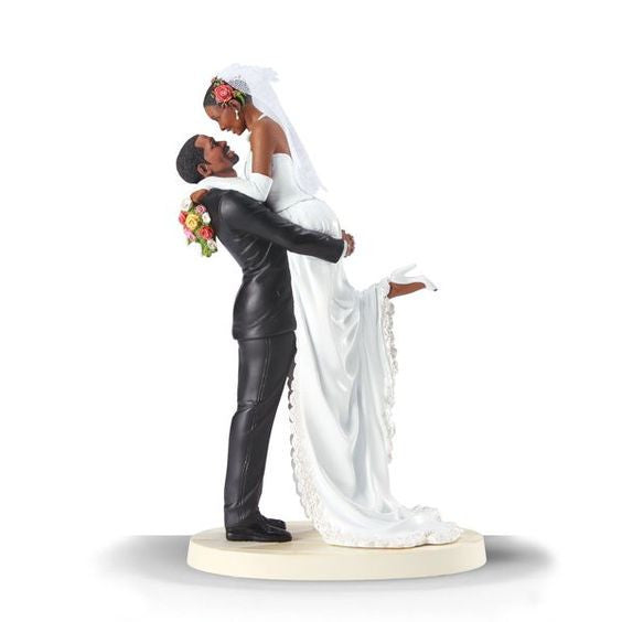 Forever One: African American Wedding Cake Topper