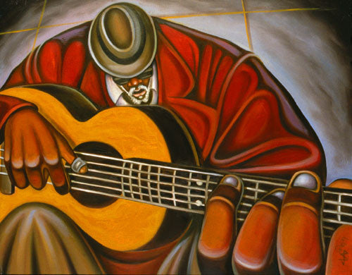 Blues Man II by C'Babi Bayoc