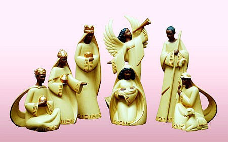 African American Nativity Figurine Set III