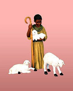 Shepherd with Lambs Figurine Set