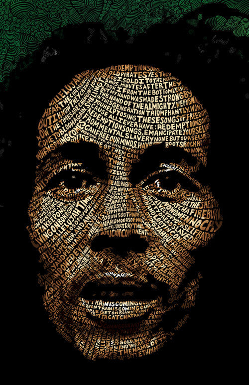 Bob Marley Word Art by Hans Fleurimont