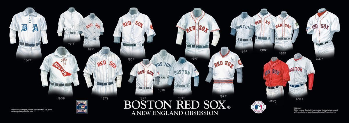 Boston Red Sox: A New England Obsession Poster by Nola McConnan and William Band