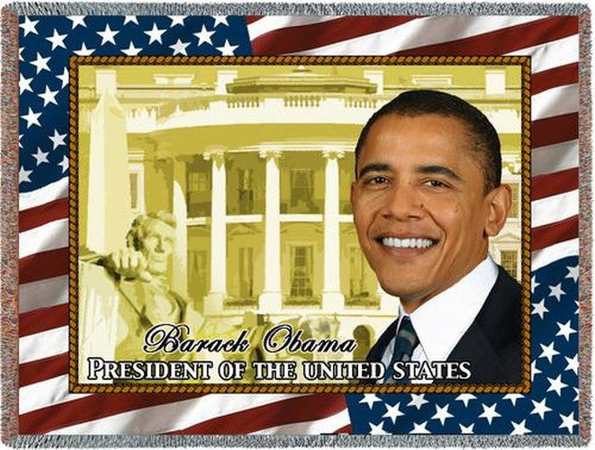 President Barack Obama Tapestry Throw